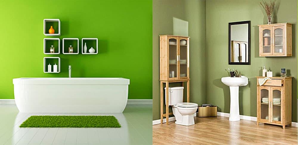 Зеленая ванная идеи ванной 2018