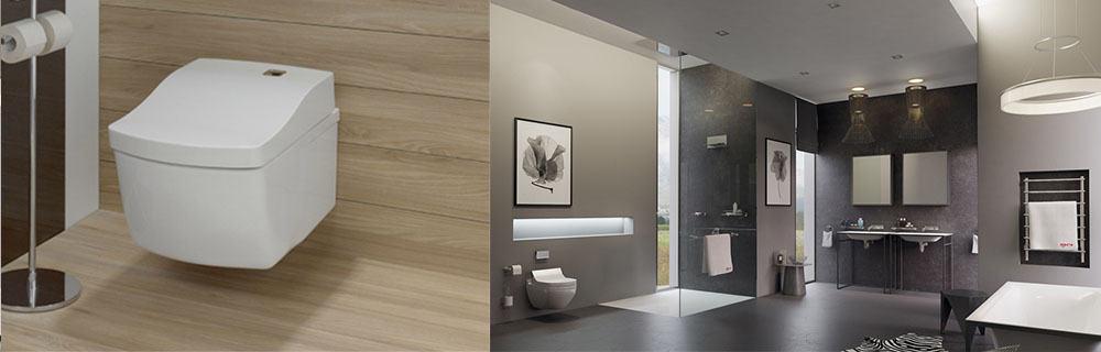 Белая ванная комната: дизайн с панно, кафелем и др 964