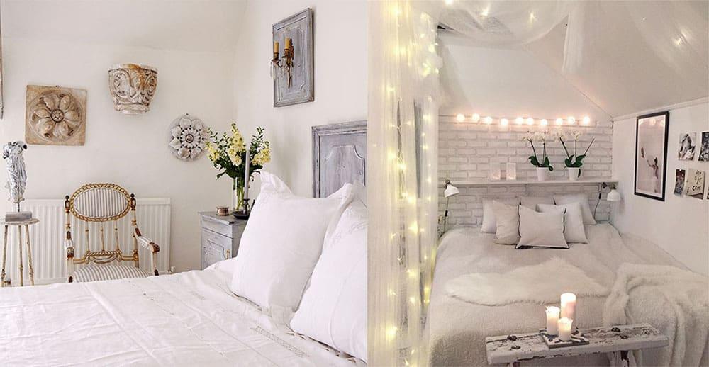 Интересные трендовые варианты декора Белой спальни Белая спальня