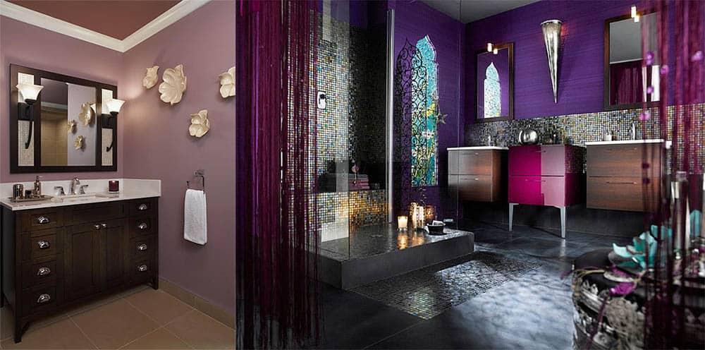 Большая и маленькая фиолетовая ванная Фиолетовая ванная
