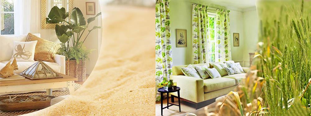 Вдохновение цветовой палитрой любимых пейзажей Экостиль в интерьере -экостиль в интерьере квартиры фото