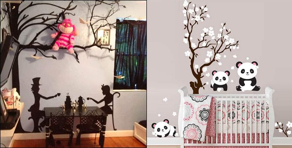 Виниловые наклейки с сюжетом для сказочной детской комнаты дизайн детской комнаты