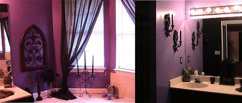 Готическая фэнтезийная ванная с гаргульями идеи интерьера ванной комнаты