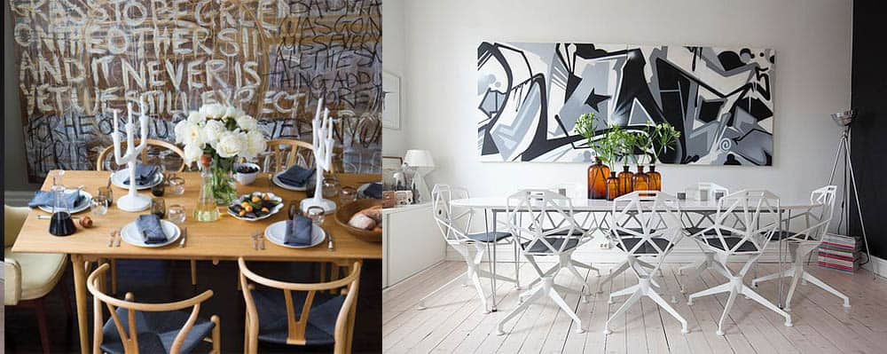 Граффити внутри столовой имитация кафе стрит арт дизайн интерьера столовой