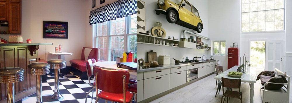 Декор кухни в стиле 70-ых идеи дизайна кухни