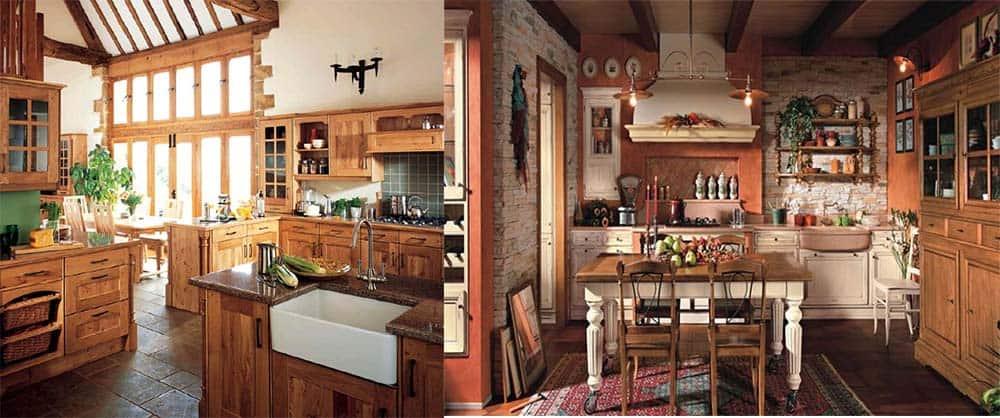 Благородные оттенки дерева на кухне в английском стиле тренд Кухня в английском стиле