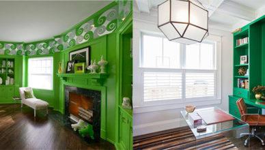 Модные веяния в дизайне домашнего офиса Зеленый офис
