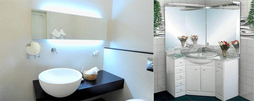 Магия зеркал расширяющая пространство ванной комнаты Дизайн маленькой ванной 2018