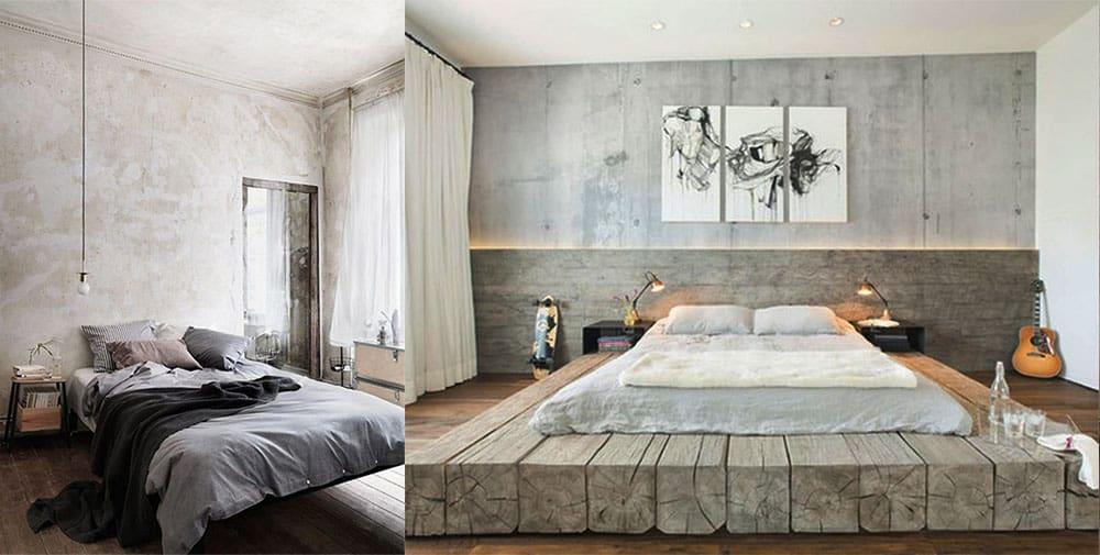 Индустриальные спальни спальни в стиле лофт интерьер спальни 2018