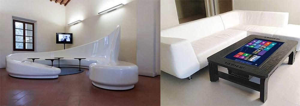 Ошеломляющая мебель в стиле хай тек Гостиная в стиле хай тек