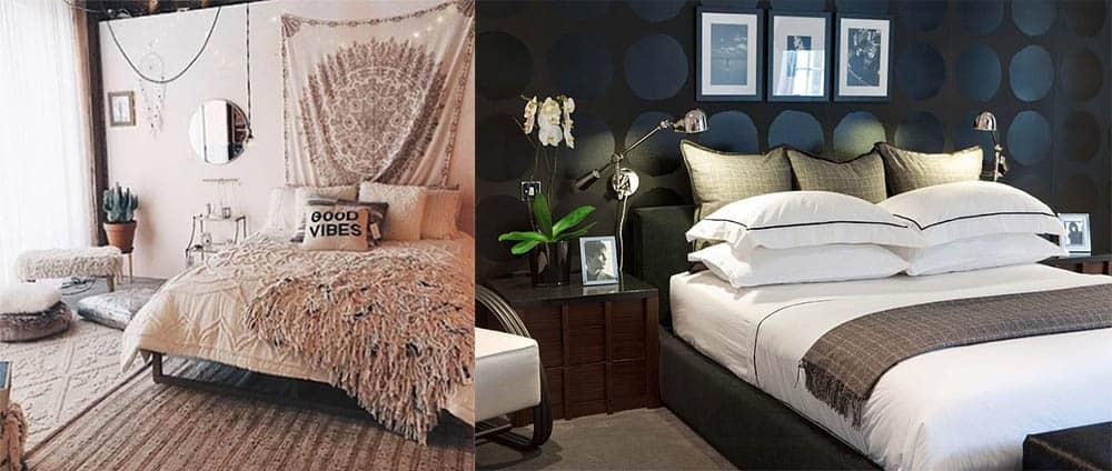 Множество покрывал декор кровати многослойность бохо-шик классика дизайн спальни 2018
