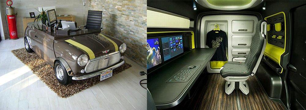 Необычный дизайн домашнего офиса для творческих людей интерьер кабинета