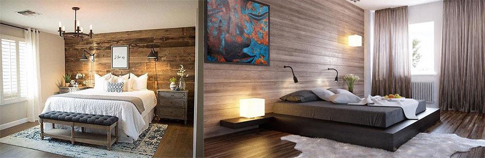 Оригинальная деревянная отделка спальни дизайн спальни 2018