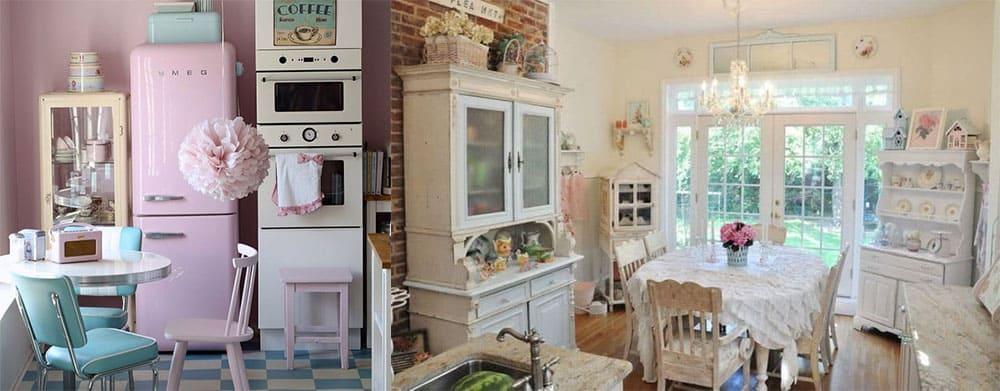 Пастельные тона для изящной ретро кухни Ретро кухня