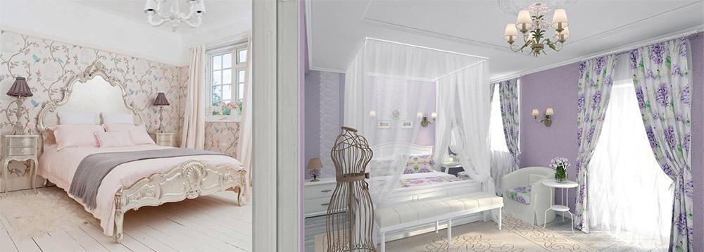 Прованс или французский кантри Белая спальня