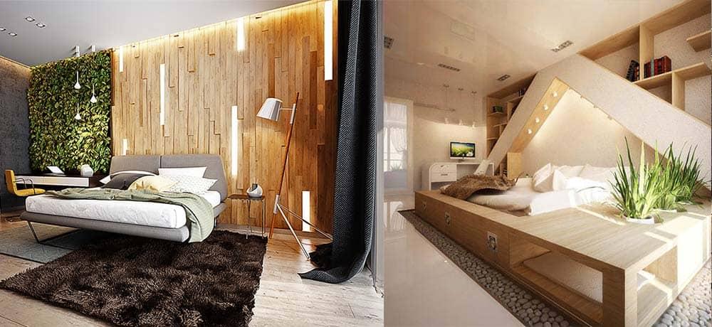 Растения в спальне стильный эко вариант декора интерьер спальни 2018 - спальня 2018