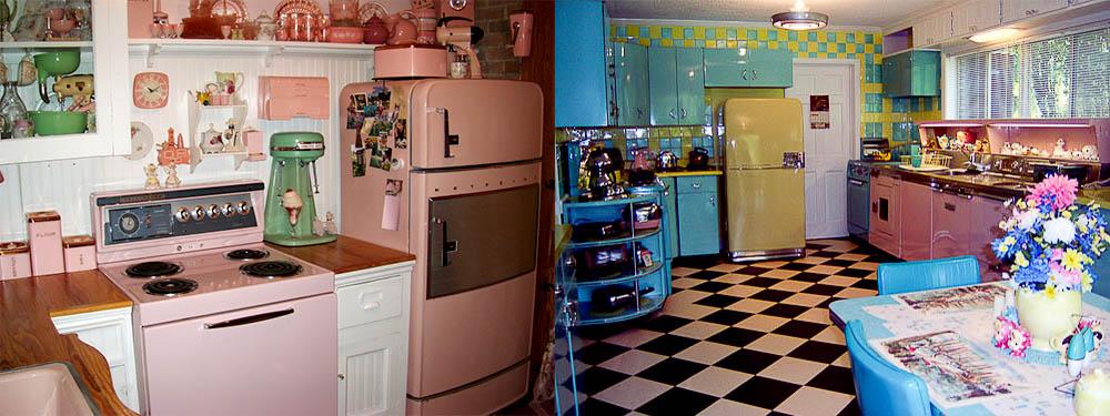 Дизайн кухни в историческом стиле Ретро кухня