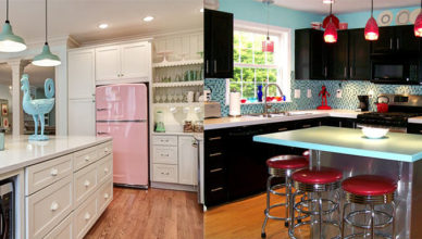 Интересный дизайн кухни в ретро стиле Ретро кухня