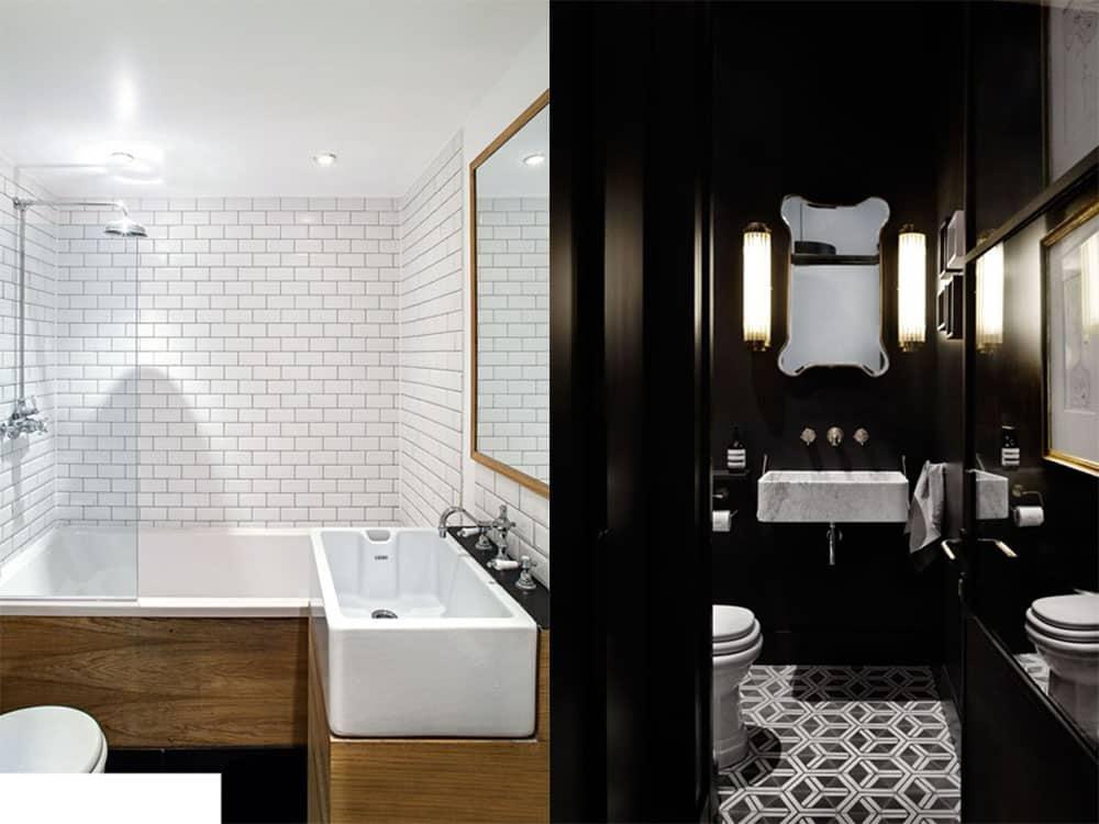 Дизайн ванной маленькой комнаты - 80 фото идей 2018 70