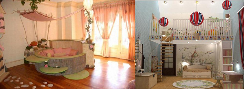 Варианты тематического сказочного дизайна детской комнаты Сказочная детская