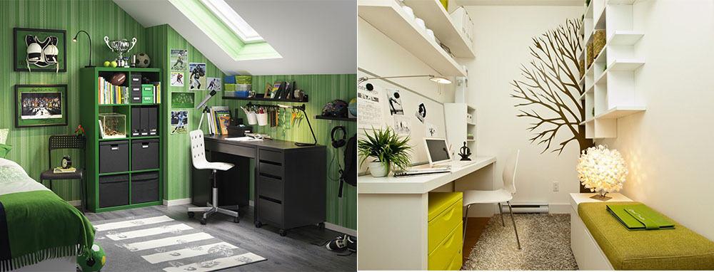 Зеленый офис в скандинавском стиле удобство практичность новейшие тенденции