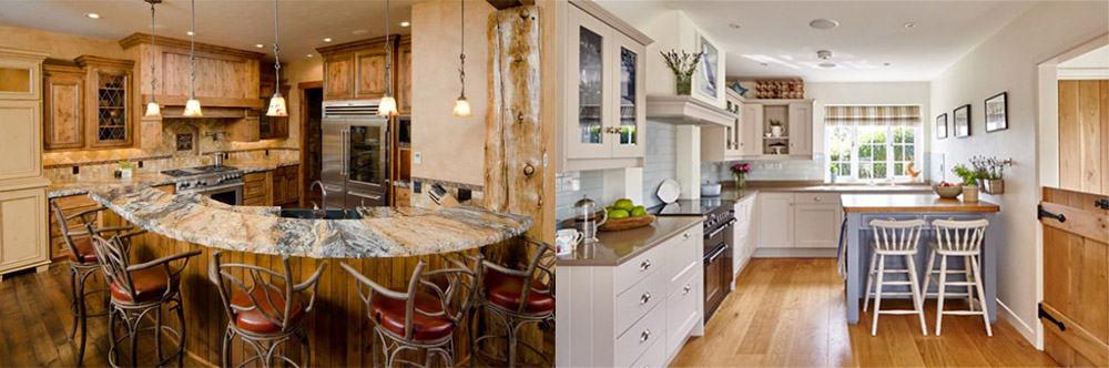 Совмещение угловой кухни со столовой зоной варианты идеи интерьера кухни