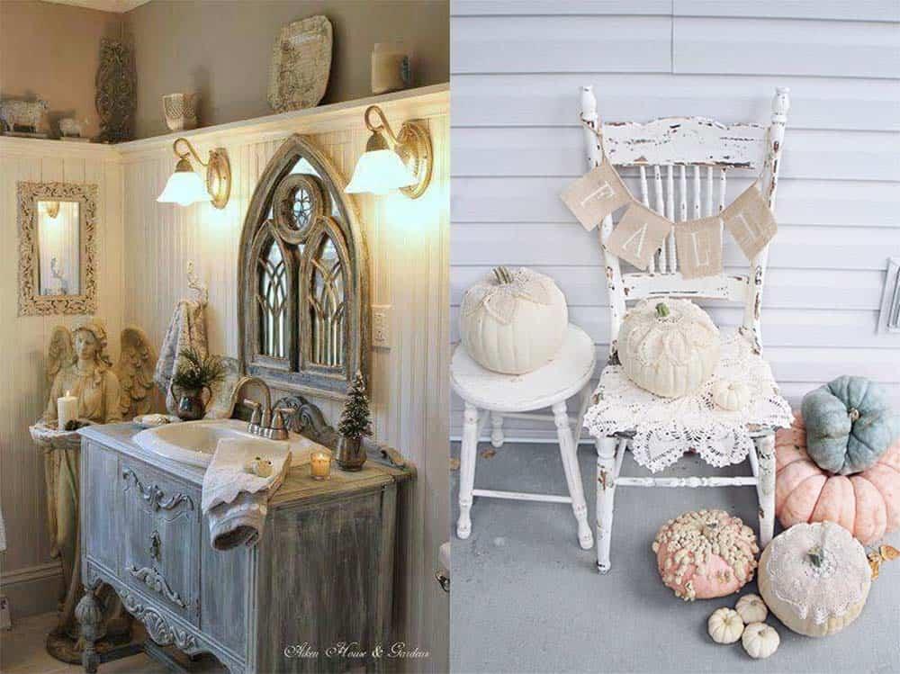 Сочетания стиля шебби шик с другими стилями и праздничным декором идеи дизайна интерьера