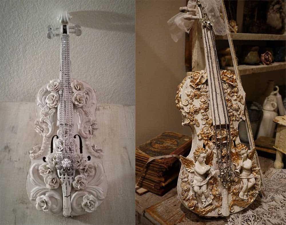 Невероятно красивые статуэтки в стиле шебби шик идеи дизайна интерьера