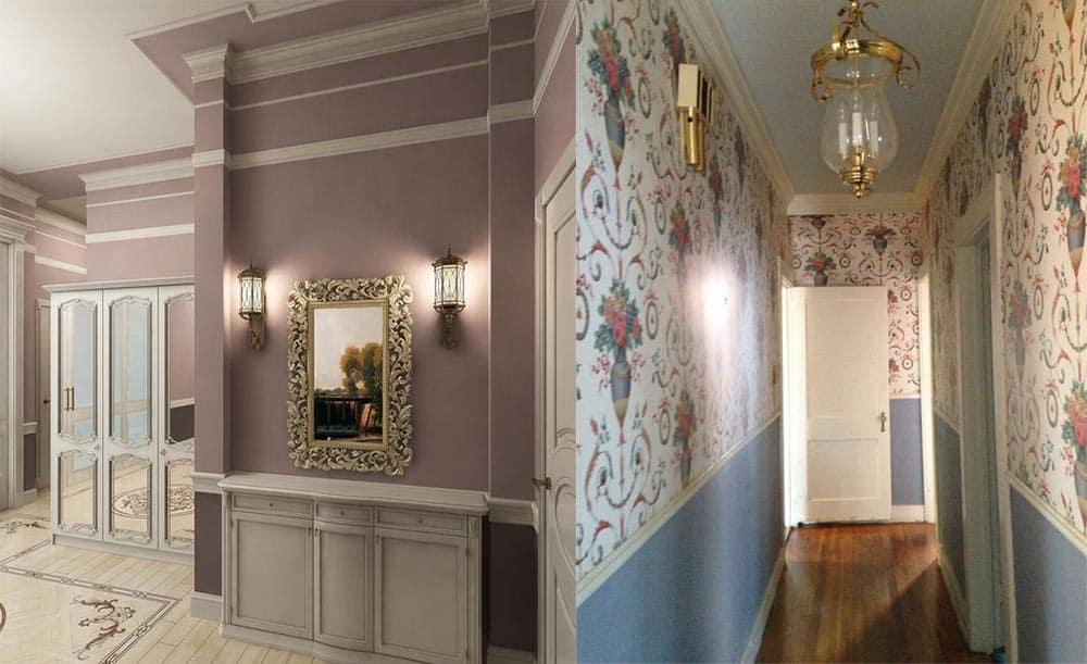 Оформление стен для прихожей в классическом стиле стили интерьеров прихожих