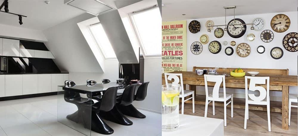 Трендовая столовая в стиле хай-тек и имитируюшая интерьер кафе Столовая 2018