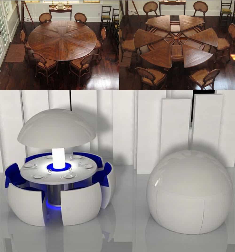 Восхитительные столы-трансформеры дизайн интерьера столовой