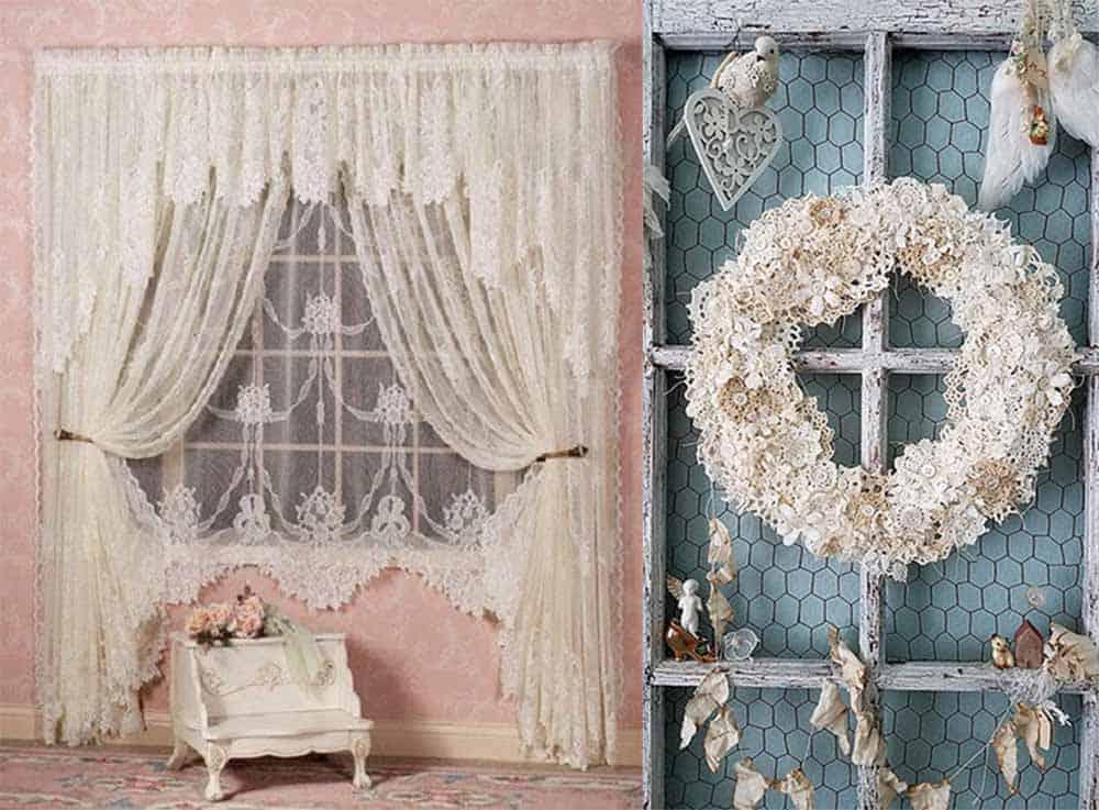 Текстиль для декора в стиле шебби шик Шебби шик в интерьере