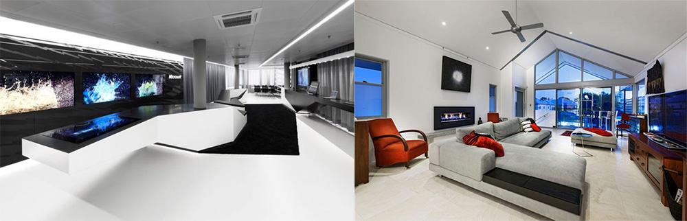 Техника акцентированный элемент декора идеи дизайна гостиной