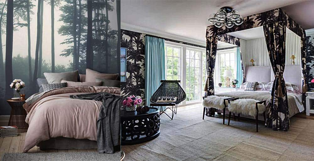Тропическая тема для оригинальной спальни дизайн спальни 2018