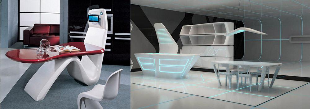 Сногсшибательная хай-тек столовая вдохновленная sci-fi дизайн интерьера столовой