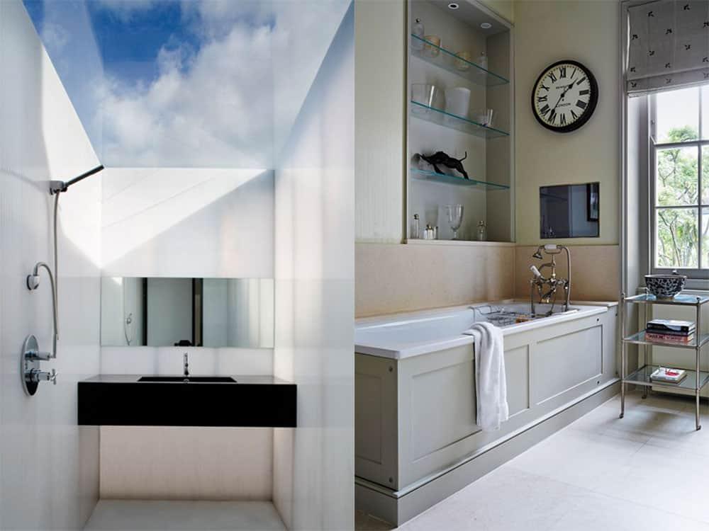Дизайн маленькой ванной 2018, Выигрышные цвета для дизайна маленькой ванной комнаты