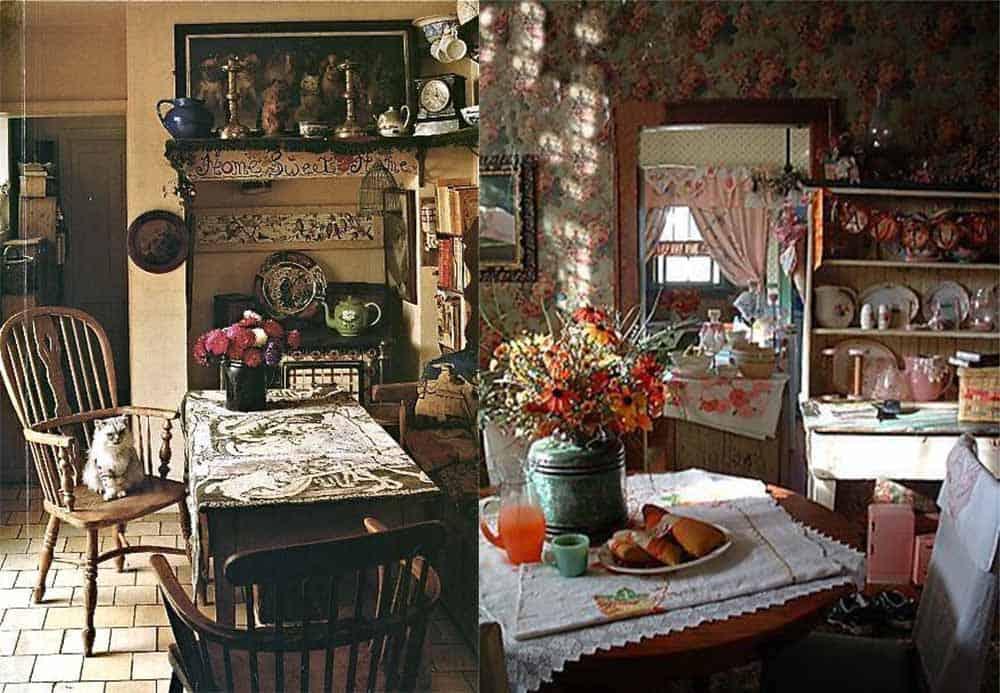 Чайный столик на кухне в английском стиле идеи дизайна кухни