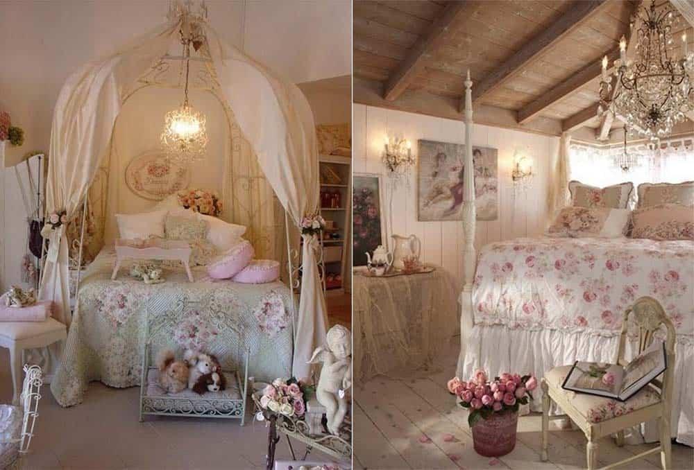Шебби шик белая спальня интерьер спальной комнаты