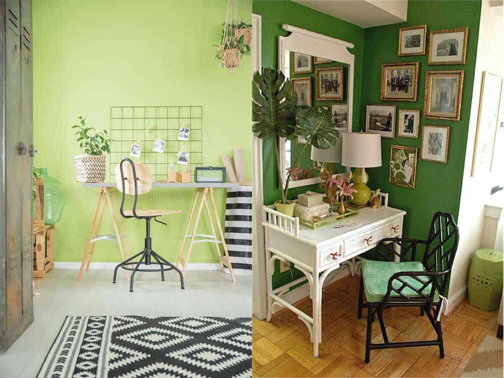 Эко-стиль в дизайне домашнего кабинета натуральные материалы Зеленый офис