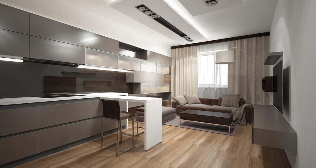 дизайн-кухни-в-стиле-минимализм