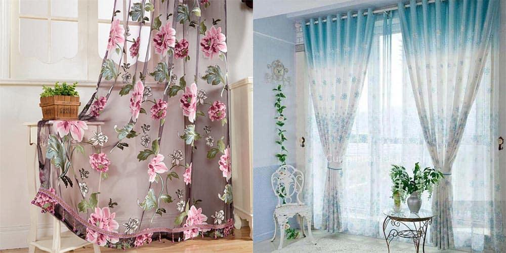 Цветочные шторы для спальни 2018 года тюль и плотные современный дизайн штор