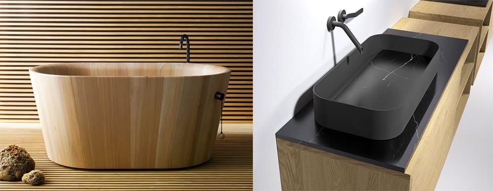 Дерево и сталь интересное использование материалов • Модные дизайны ванной 2018