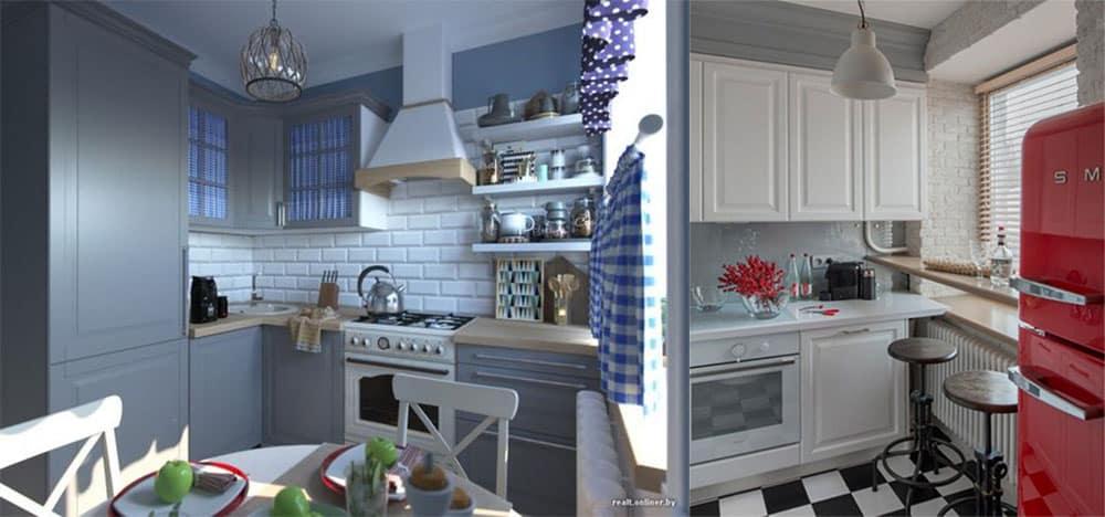 дизайн кухни в хрущевке 2018 интерьер маленькой кухни