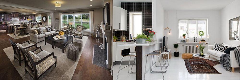 Как совместить кухню и гостиную в законном порядке Дизайн кухни гостиной 2018