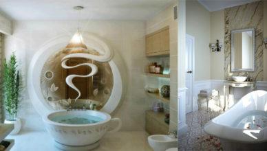 Трендовый модный Дизайн маленькой ванной комнаты 2018 с оригинальными деталями