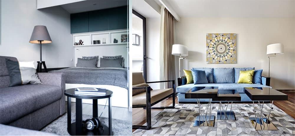 Трендовые варианты оформления интерьера однокомнатной квартиры Дизайн однокомнатной квартиры 2018