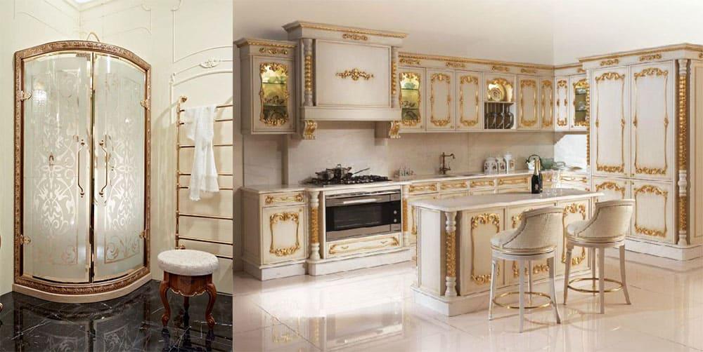 Душевая кабина и кухня в классическом стиле Классический стиль 2018