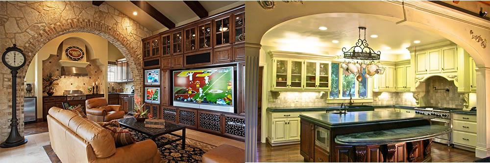 Зонирование с помощью арки Дизайн кухни гостиной 2018