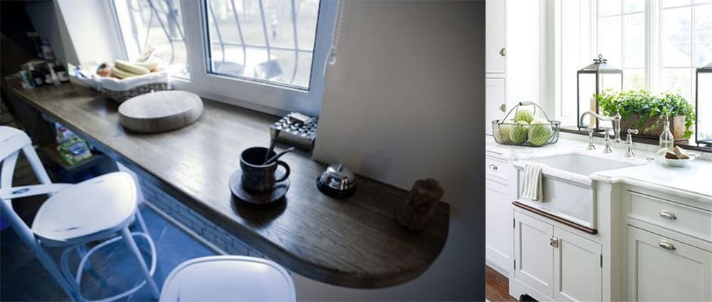 Умное использование подоконника в маленькой кухне дизайн маленькой кухни 2018
