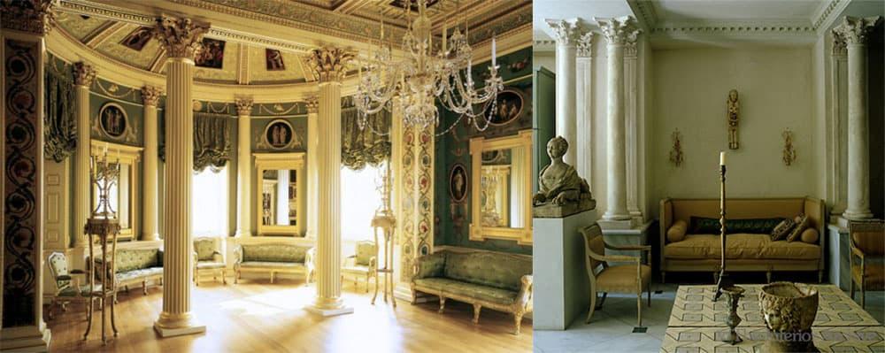 Колонны для декора и зонирования классический стиль в интерьере